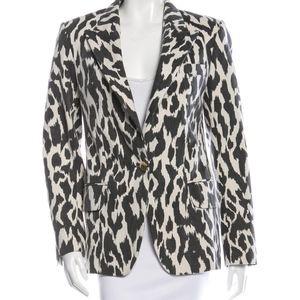 CELINE women's leopard print blazer